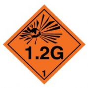 Hazard safety sign - Explosive 1.2G 022